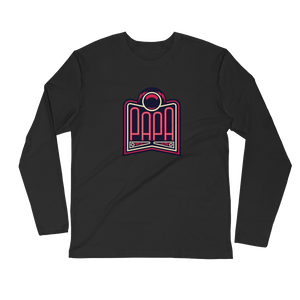 PAPA Red Logo Long Sleeve Fitted Crew