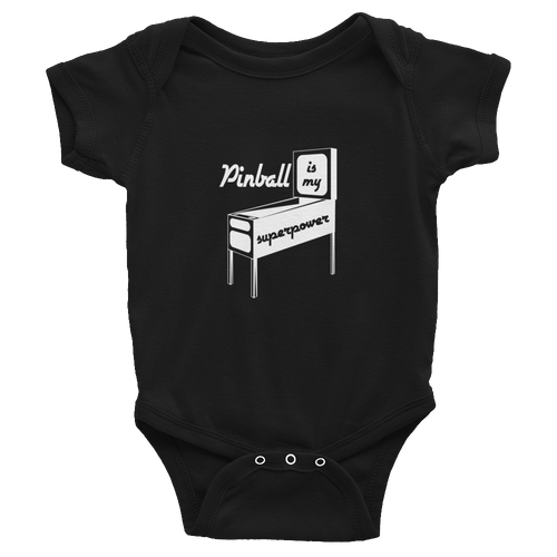 Pinball Is My Superpower Infant Bodysuit