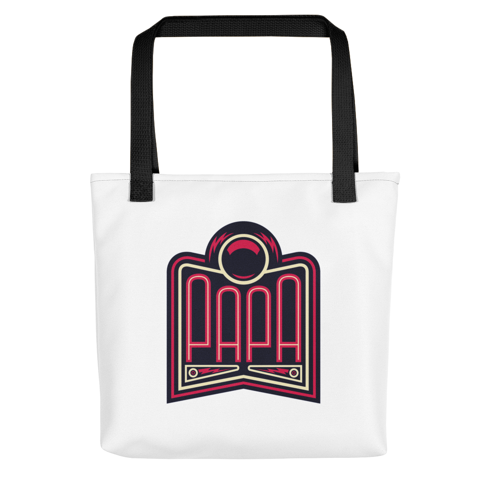 PAPA Red Logo Tote Bag