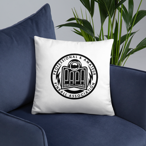 PAPA Crest Throw Pillow