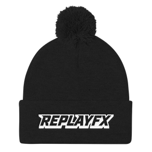 Replay FX Logo Pom Pom Knit Cap