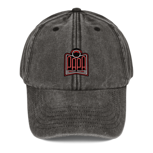PAPA Red Logo Vintage Hat