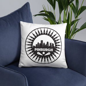 Pinburgh Logo Throw Pillow