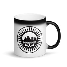 Load image into Gallery viewer, Pinburgh Logo Matte Black Magic Mug
