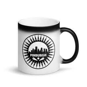 Pinburgh Logo Matte Black Magic Mug
