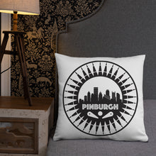 Load image into Gallery viewer, Pinburgh Logo Throw Pillow