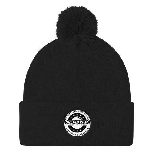 Replay FX Crest Pom Pom Knit Cap