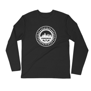 Pinburgh Logo Long Sleeve Fitted Crew