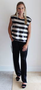 Eve Side Seam Stripe Pant
