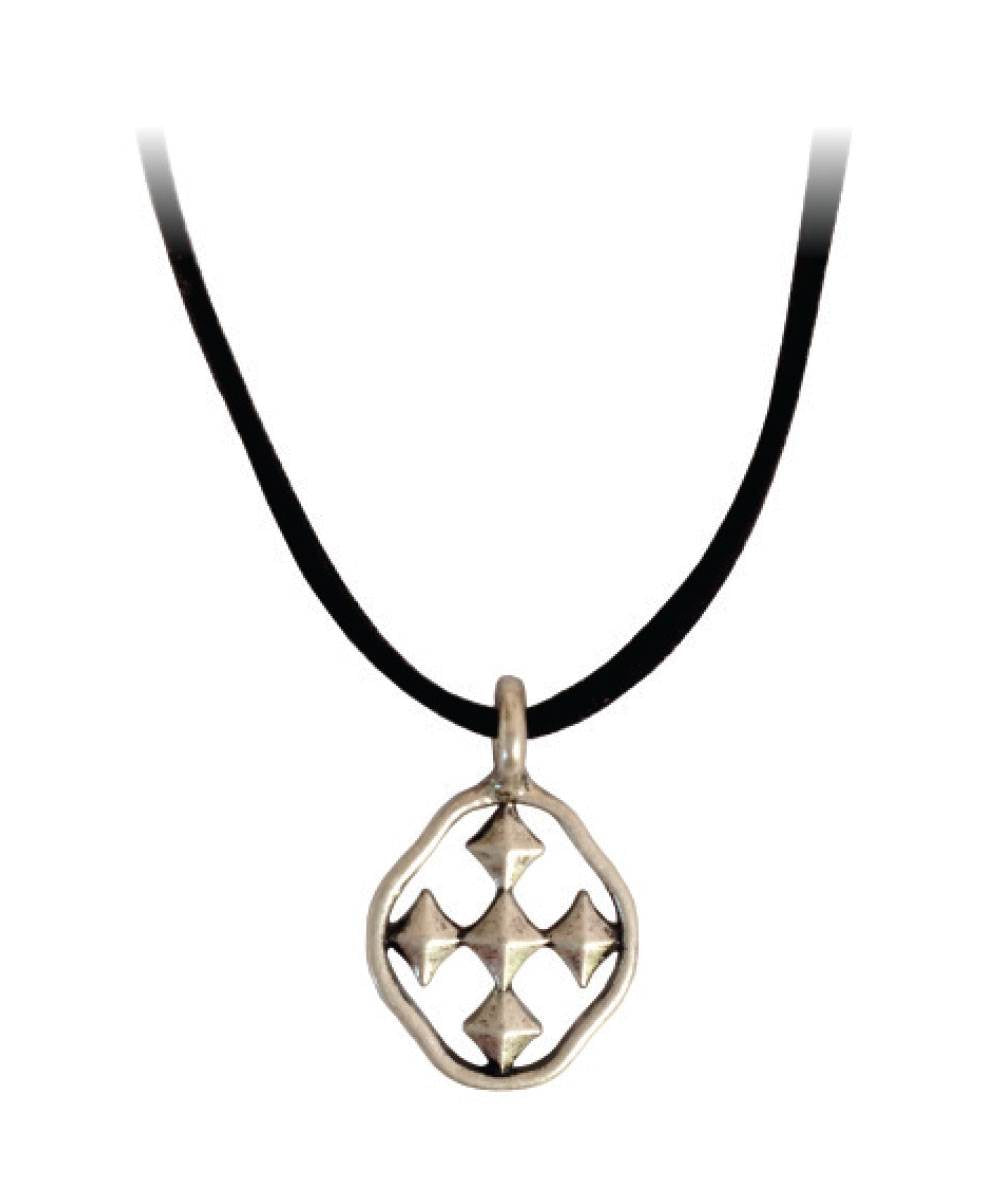 "16"" Black Suede Hope Necklace - Women's Silver Shield Necklace online"
