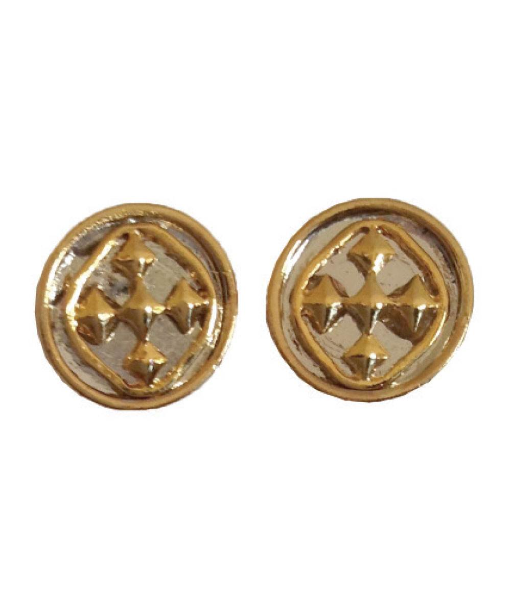 "1/2"" Linked Medallion Post Earring - Women's Fashion Earring online"