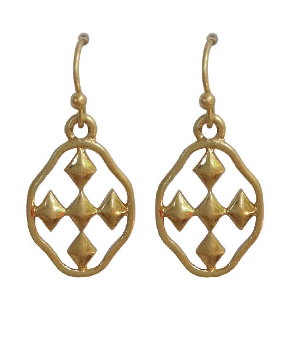 "3/4"" Small Dangle Earring - matte gold"