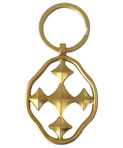 Shield of Faith Key Chain Matte Gold
