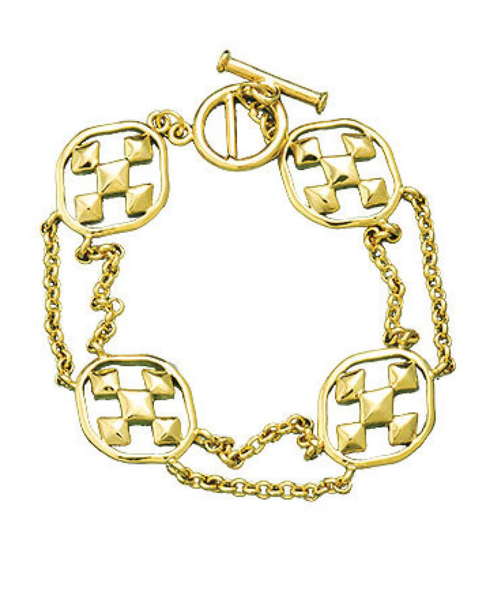 18K Gold Plated Linked Bracelet
