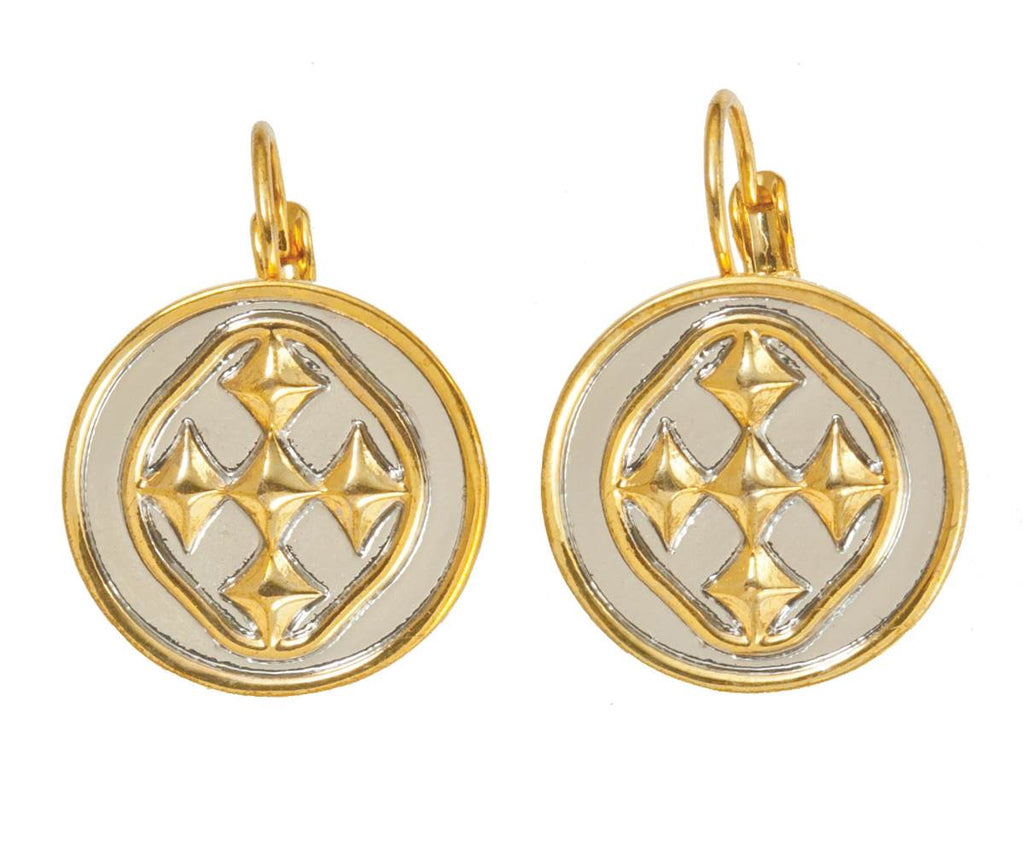"1"" Linked Medallion Small Coin Earrings - Women Gold Earrings 2019"