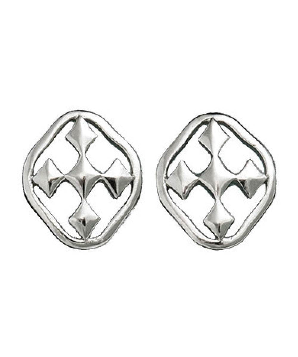 Rhodium Plated Post Earring