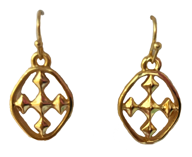 "3/4"" Small Dangle Earring - 18kt Gold Plated"