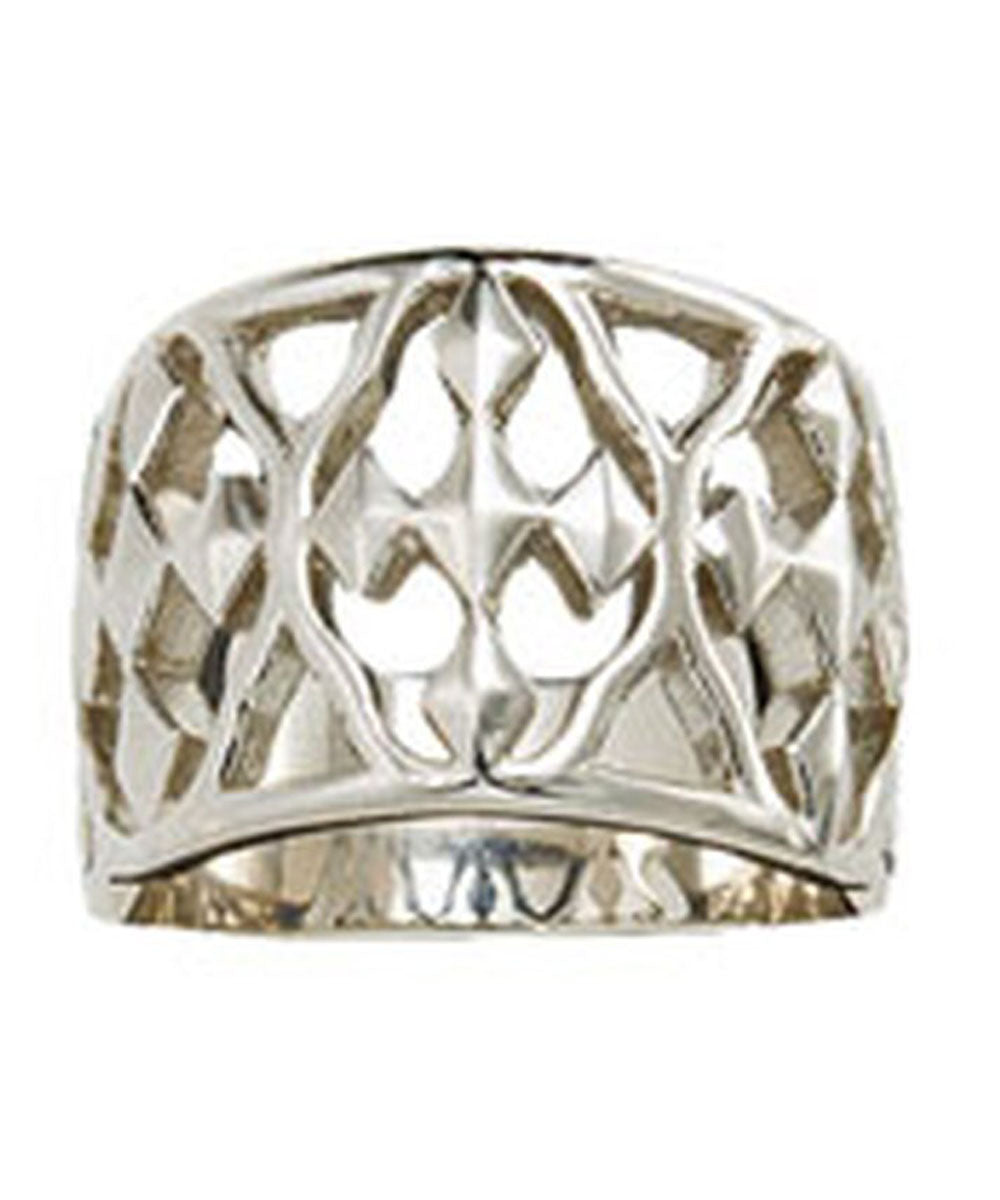 Shield of Faith Banded Ring in Sterling Silver