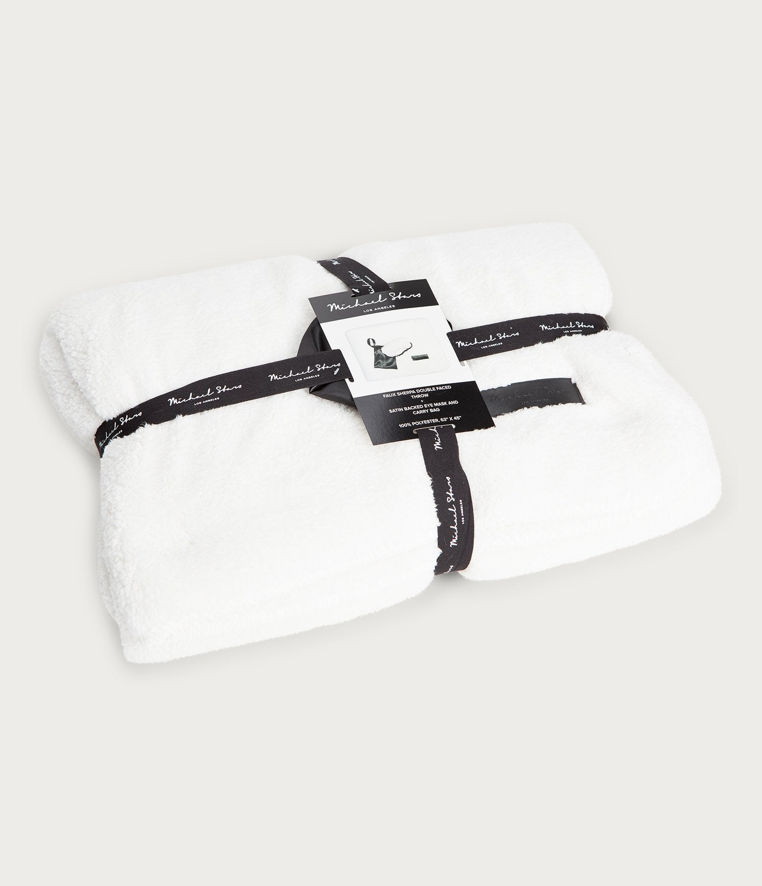 Bailey Faux Sherpa Throw and Sleeping Mask