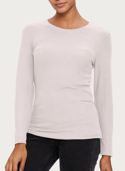 2X1 Ribbed Long Sleeve Crewneck