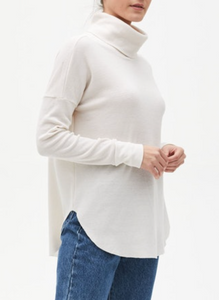 Marcy Cowl Shirttail Tunic