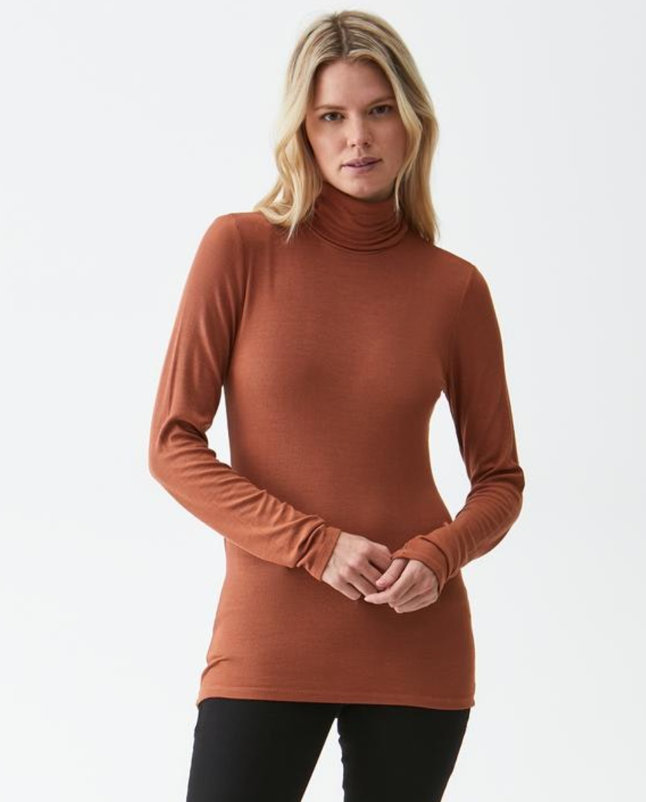 2x1 Ribbed Turtleneck