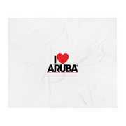 I love Aruba Throw Blanket