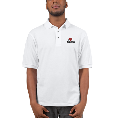 I love Aruba Men's Premium Polo