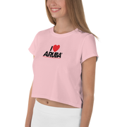 I love Aruba All-Over Print Crop Tee