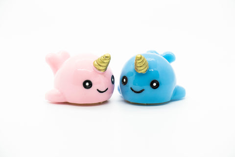 Narwhal Glossy Grin Cute Lip Gloss Containers- DIY Empty refillable containers