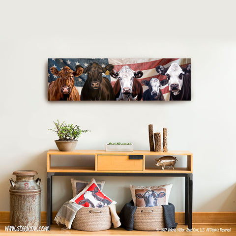 """Beefy Babes""™ Americowna Collection Canvas Prints, 3 sizes available"