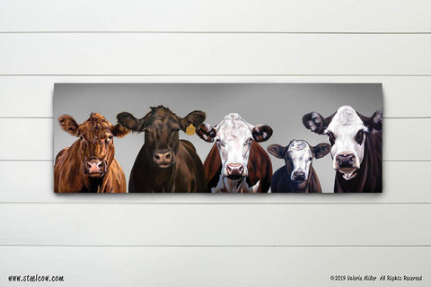 """Beefy Babes""™ Special Edition Gray Canvas Prints, Available in 5 sizes"