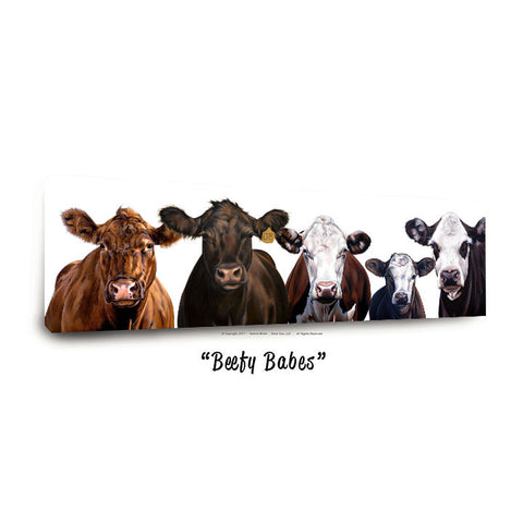 """Beefy Babes""™ Canvas Prints, 4 sizes available"