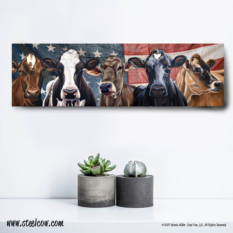 """Dairy Girls""™ Americowna Collection Canvas Prints, 3 sizes available"