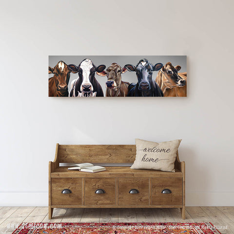 """Dairy Girls""™ Special Edition Gray Canvas Prints, Available in 5 sizes"