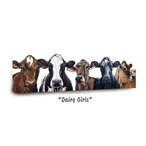 """Dairy Girls""™ Canvas Print 13""x40"""