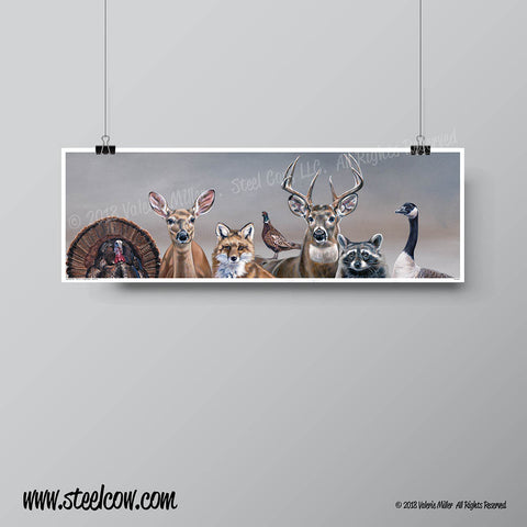 """Deer Friends"" signed paper print"