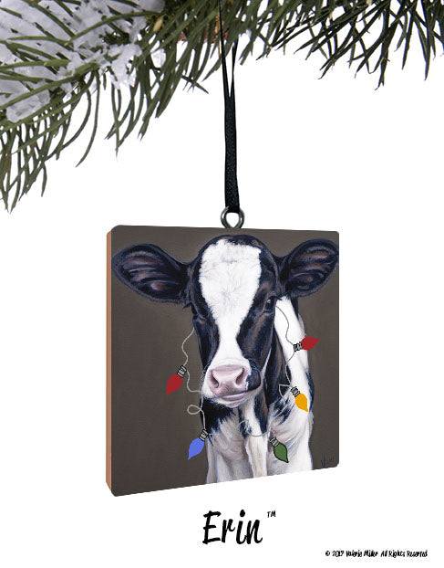 Holiday Ornaments - Holiday Ornaments Steel Cow