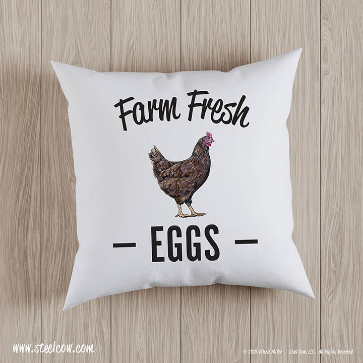Throw Pillow Covers.Farm Fresh Eggs Throw Pillow Covers 2 Sizes Available