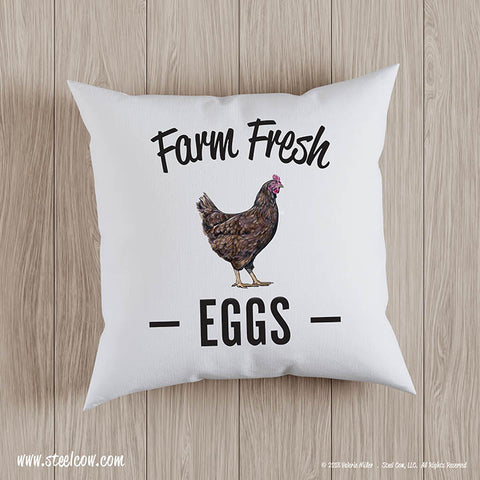 Farm Fresh Eggs throw pillow covers (2 sizes available)