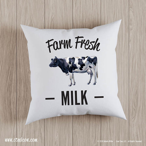 Farm Fresh Milk throw pillow covers (2 sizes available)
