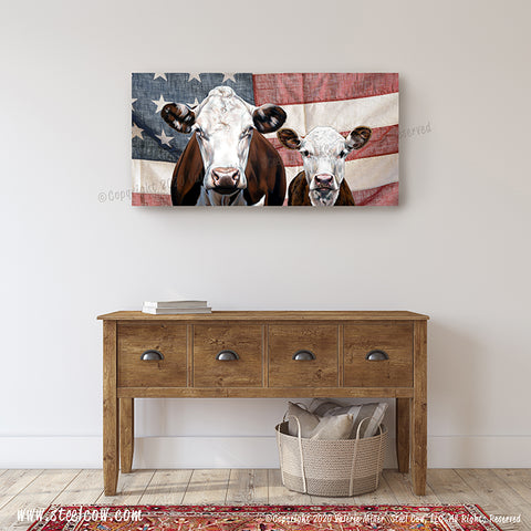 """Momma's Boy...Two""™ Americowna Collection™ Canvas Prints (4 sizes)"