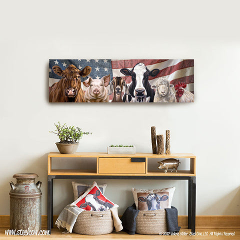 """The Girls and Friends"" ™ Americowna™ Collection canvas prints, 3 sizes available"