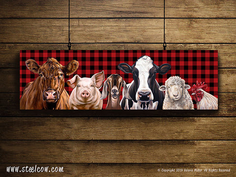 """The Girls & Friends""™ Buffalo Plaid Special Edition Canvas Prints (3 sizes available)"
