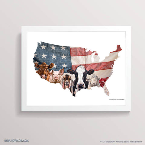 """The Girls & Friends...USA""™ Paper Print"