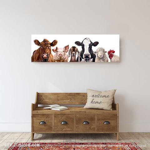 """The Girls and Friends""™ Canvas Prints, Available in 5 sizes"