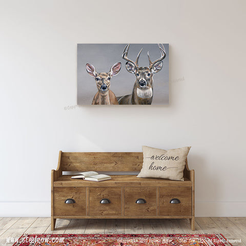 """Yes, Deer"" Canvas Prints (4 sizes)"