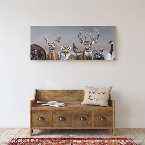 """Deer Friends"" Canvas Prints, 4 sizes available"