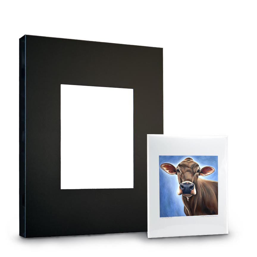 Steel Frame and Paper Print Combo 11x14 | Steel Cow