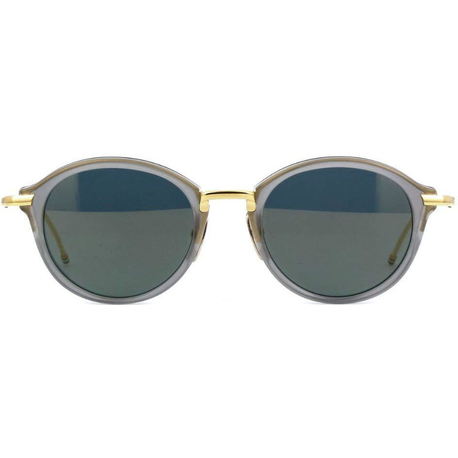 Thom Browne Sunglasses TB-011-G-T-GRY-GLD Gray Gold Frame Gold Flash Lens 46mm